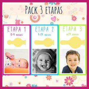 Pack chupetes, etapas 1-2-3