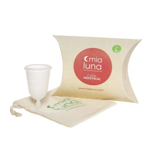 Copita menstrual Mialuna talla L, blanca 1
