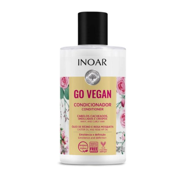Acondicionador Go Vegan Cachos con aceite de ricino y rosa mosqueta 300ml 1