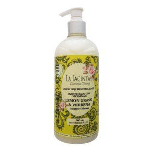 Jabón líquido Lemongrass & Verbena, 500ml emoliente, vitamina E