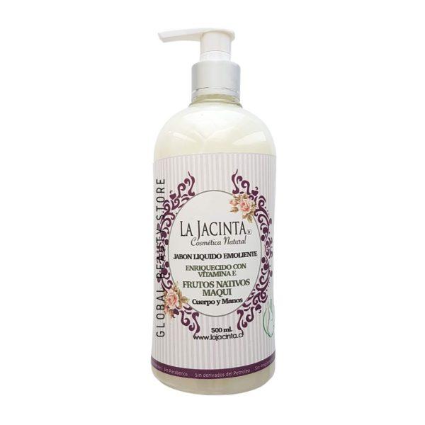 Jabón líquido Maqui, 500ml emoliente, vitamina E 1