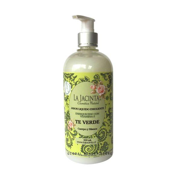 Jabón líquido Te verde, 500ml emoliente, vitamina E 1