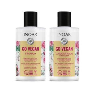 Kit dúo Go Vegan Cachos con aceite de ricino y rosa mosqueta 300ml