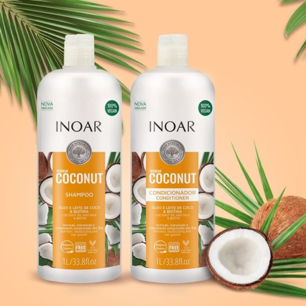 Kit dúo Bombar Coconut y Biotina 1litro 2