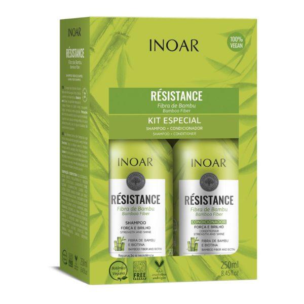 Kit dúo Resistance Bambú y biotina 250ml 1