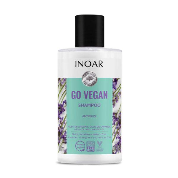 Shampoo Go Vegan antifrizz,con argán y lavanda, 300ml 1