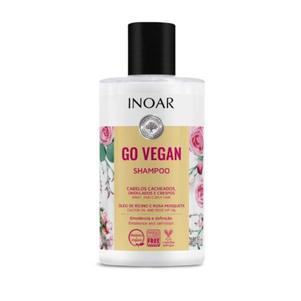 Shampoo Go Vegan Cachos con aceite de ricino y rosa mosqueta 300ml 1
