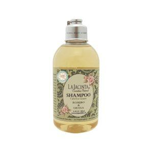 Shampoo de Romero y Ortiga, anticaspa, fortalecedor y ayuda al crecimiento capilar.