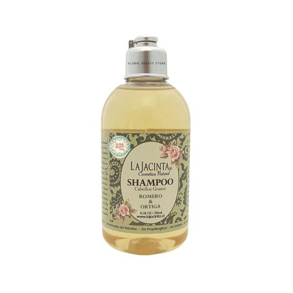 Shampoo de Romero y Ortiga, anticaspa, fortalecedor y ayuda al crecimiento capilar. 1