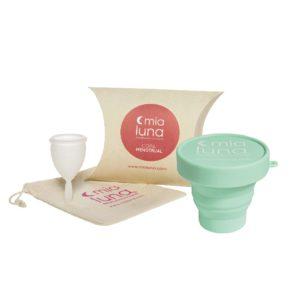 Pack Copa menstrual blanca XS + Vaso Esterilizador