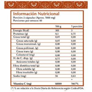 Vitamina C 500mg - 120 cápsulas vegetales